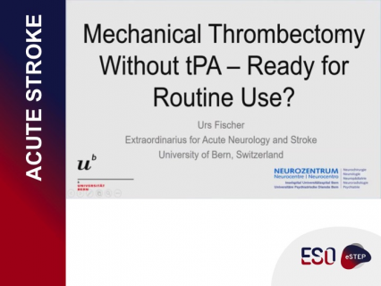 Mechanical Thrombectomy Without TPA - Ready for Routine Use?